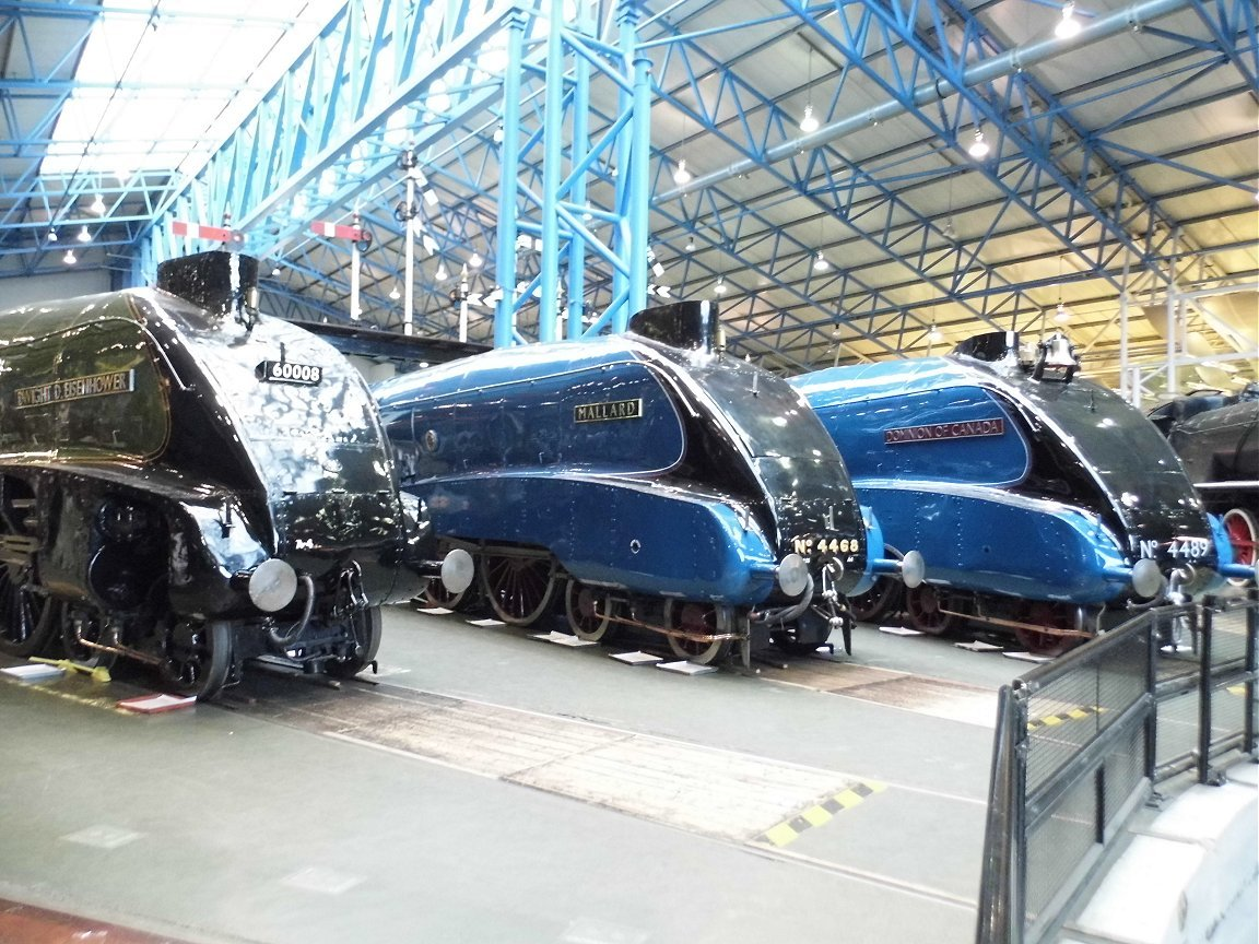 60008 Dwight D. Eisenhower, 4468 Mallard and 4489 Dominion of Canada, Sat 28/12/2013.