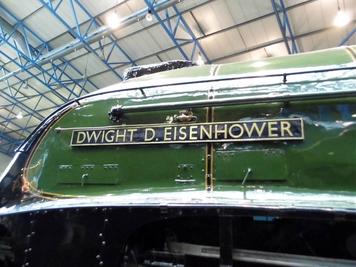 Nameplate for Dwight D. Eisenhower, Sat 28/12/2013.