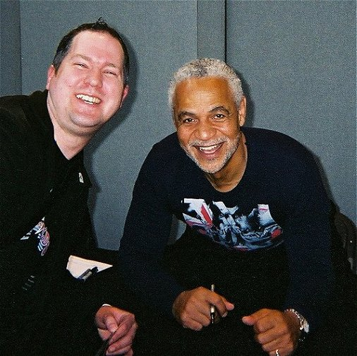 Ady with Ron Glass - Shepherd Book from Firefly at Collectormania 9.
