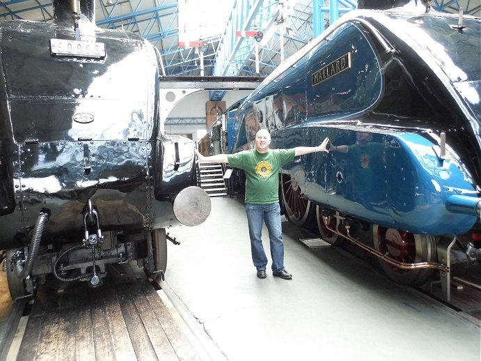 Adrian with 60008 Dwight D Eisenhower and 4468 Mallard at NRM York. 16/05/2013.