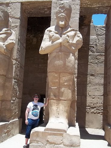 Ady in the Temple of Karnak June 21st 2015.