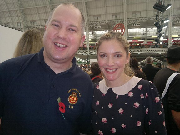 Ady with Lisa Faulkner at Masterchef Live, Olympia, London - November 2011.