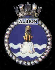 The Ship's badge for H.M.S. Albion