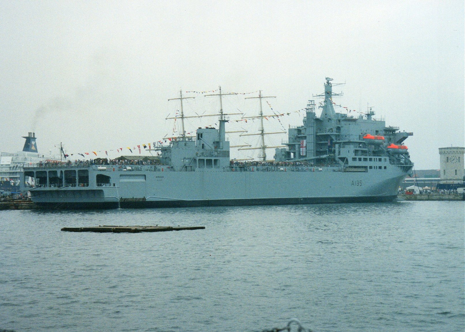 RFA Argus, primary casualty reception ship, Portsmouth 2001.