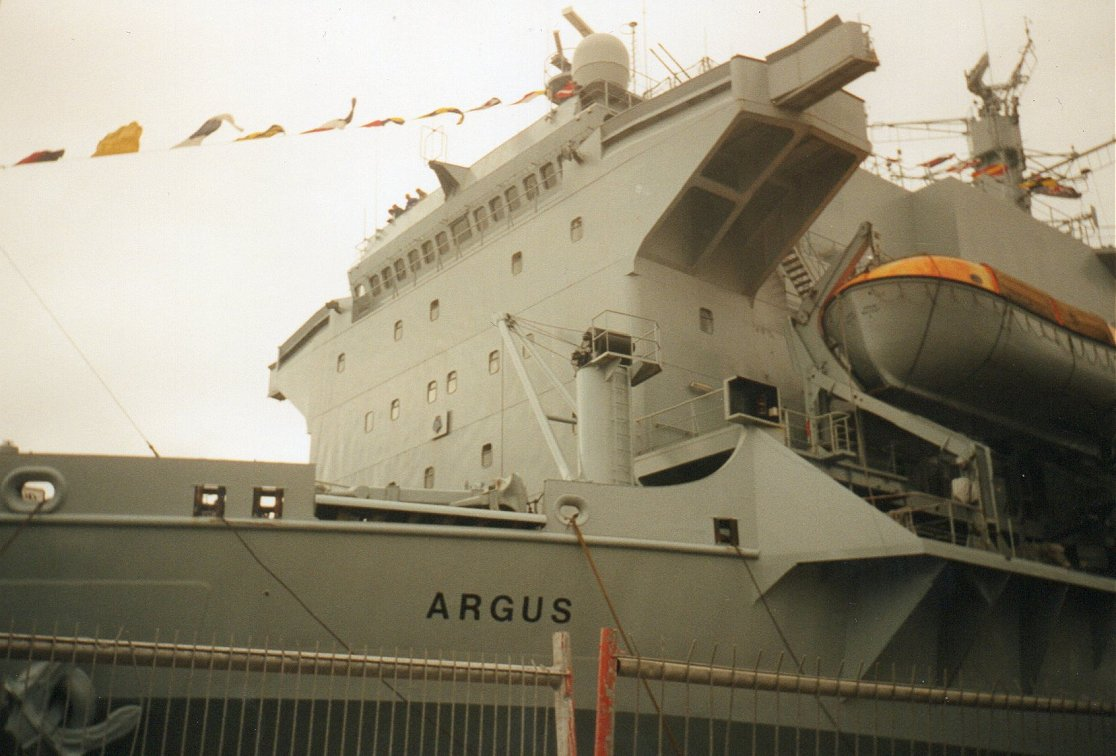 RFA Argus, primary casualty reception ship, Plymouth 1997.