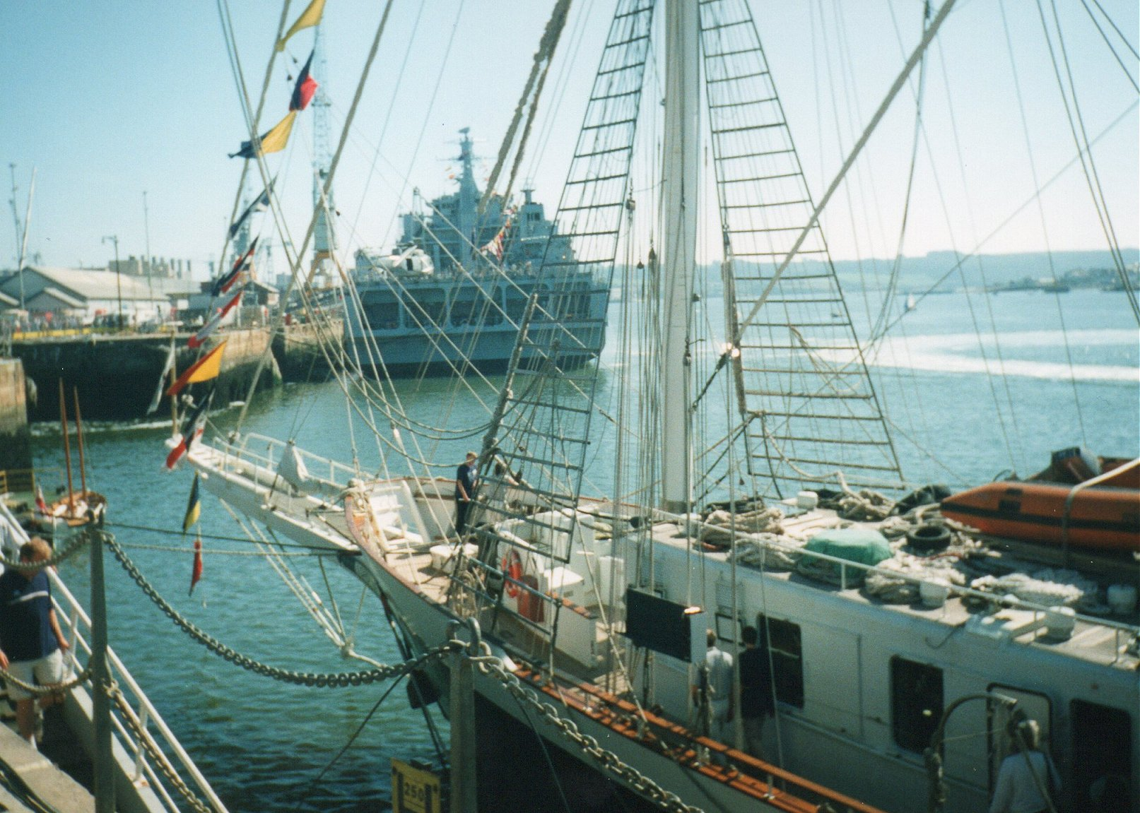 RFA Argus, primary casualty reception ship, Plymouth 1999.