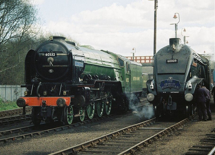 Peppercorn A2 60532 Blue Peter and Gresley A4 60009 Union of South Africa.