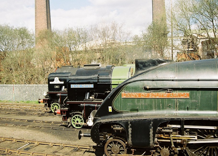 Peppercorn A1 60163 Tornado, A2 60532 Blue Peter and Gresley A4 60009 Union of South Africa.