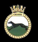 Badge of HMS Chaser, adopted by USS Chaser.