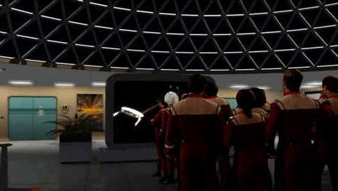 Class rooms educate on past missions such as the encounter between U.S.S. Sentinel and the Klingons in 2289.