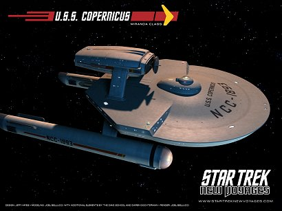 U.S.S. Copernicus from ST:Phase Two: 'Blood and Fire'. This is the unrefit version of the Miranda class. Click on this image for the ST:Phase Two website.