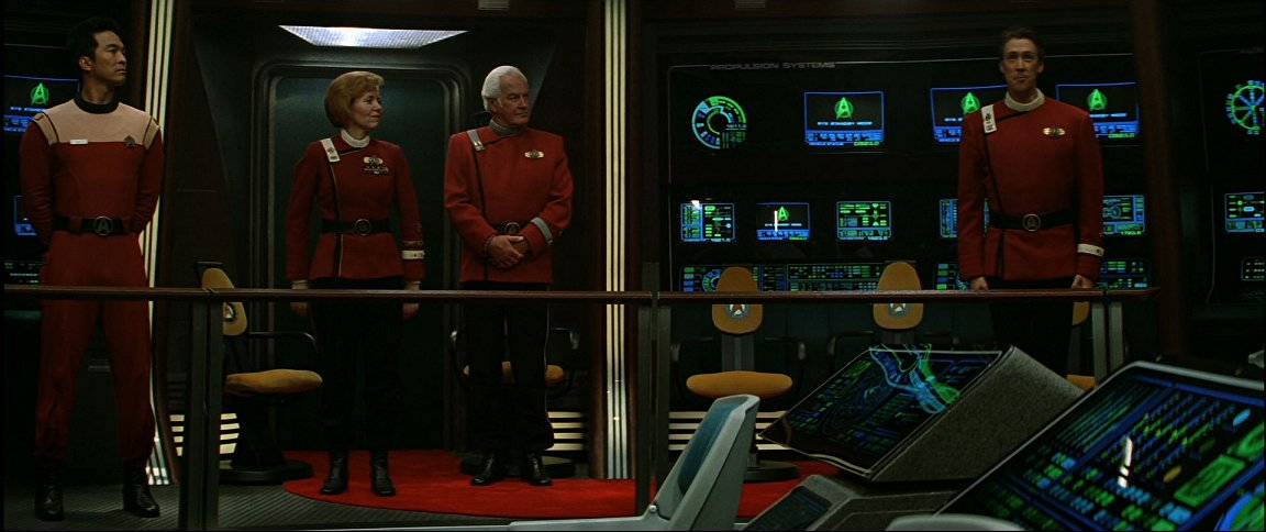 General bridge shot from the commissioning of the identical Enterprise-B, stardate 9715.5