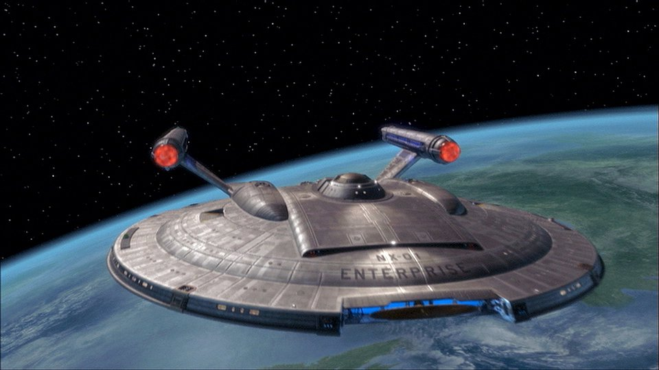 The Final Frontier has a new beginning... Image copyright © Paramount Pictures 2001. All rights reserved.