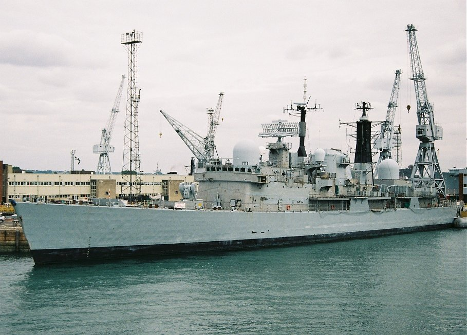 Decommissioned Type 42 destroyer HMS Exeter, Portsmouth 2010.
