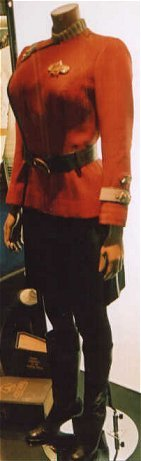 Commander Uhura's uniform as seen at London Hyde Park Star Trek Exhibition, 2002.