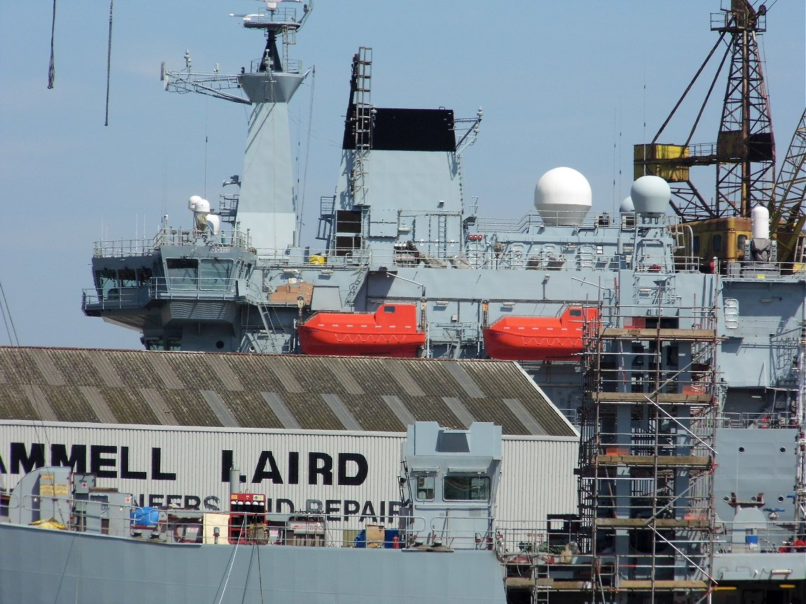 A387 RFA Fort Victoria at Cammell Laird shipyard 26 May 2013.