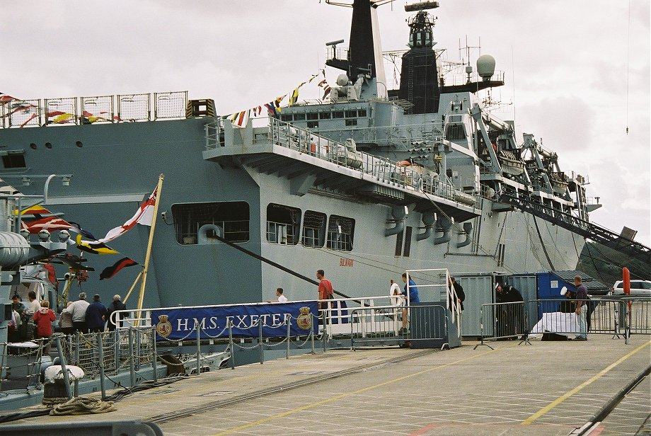 Assault ship H.M.S. Bulwark at Plymouth Navy Days 2006
