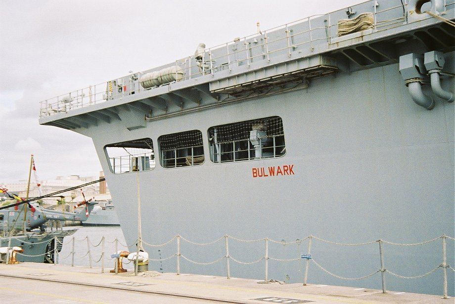 Assault ship L15 H.M.S. Bulwark at Plymouth Navy Days 2006.