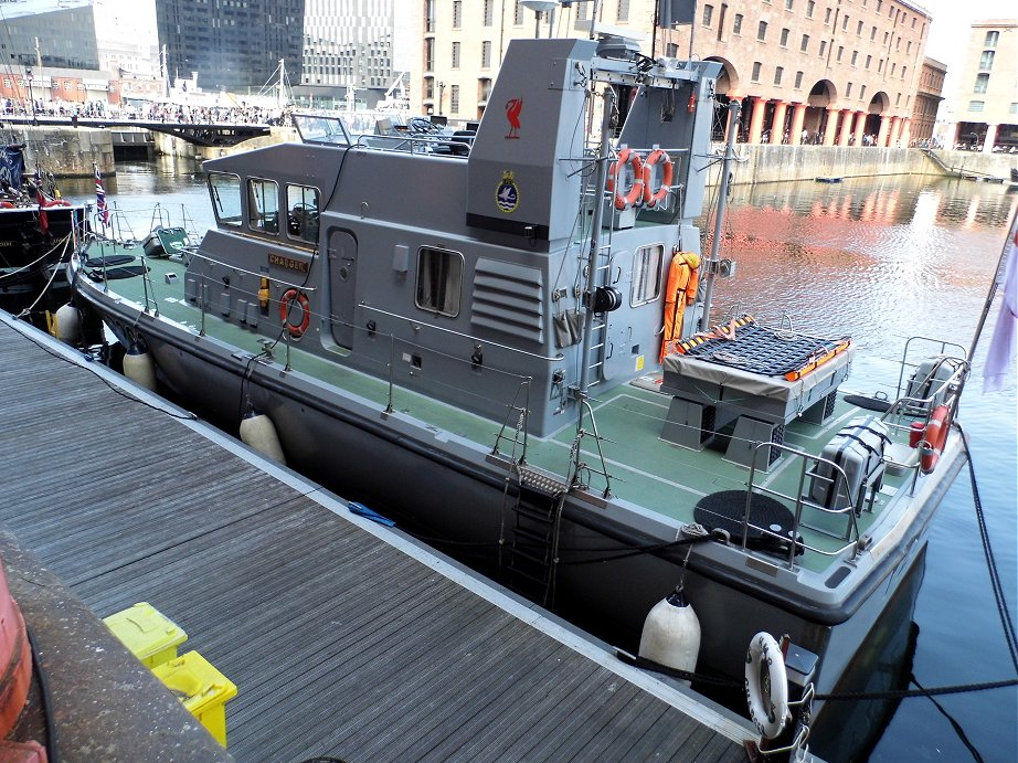 Explorer class coastal training patrol craft H.M.S. Charger at Liverpool Alberts Docks, May 26th 2013