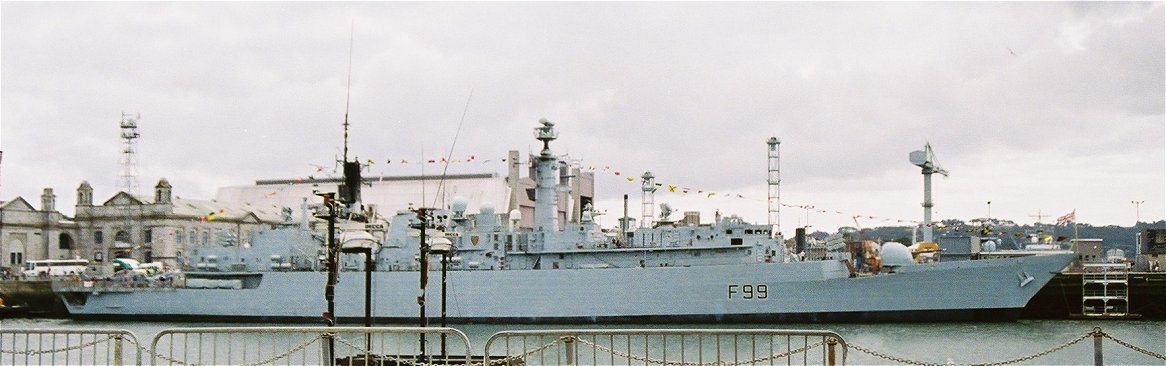 HMS Cornwall, The Fighting '99 or the Ice Cream Frigate, Type 22 batch 3 at Plymouth Navy Days 2006.