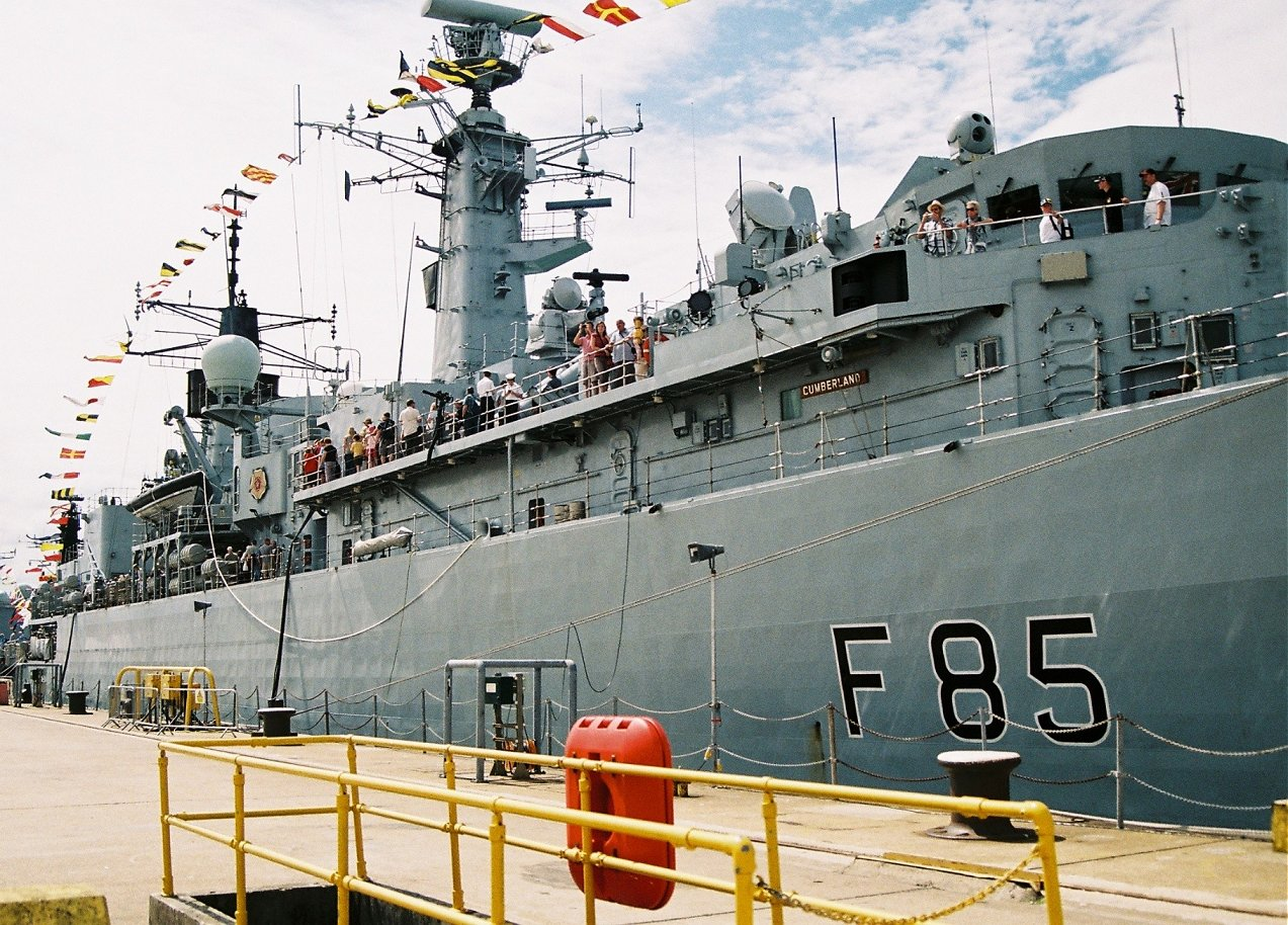 HMS Cumberland, Type 22 batch 3 at Portsmouth Navy Days 2010.