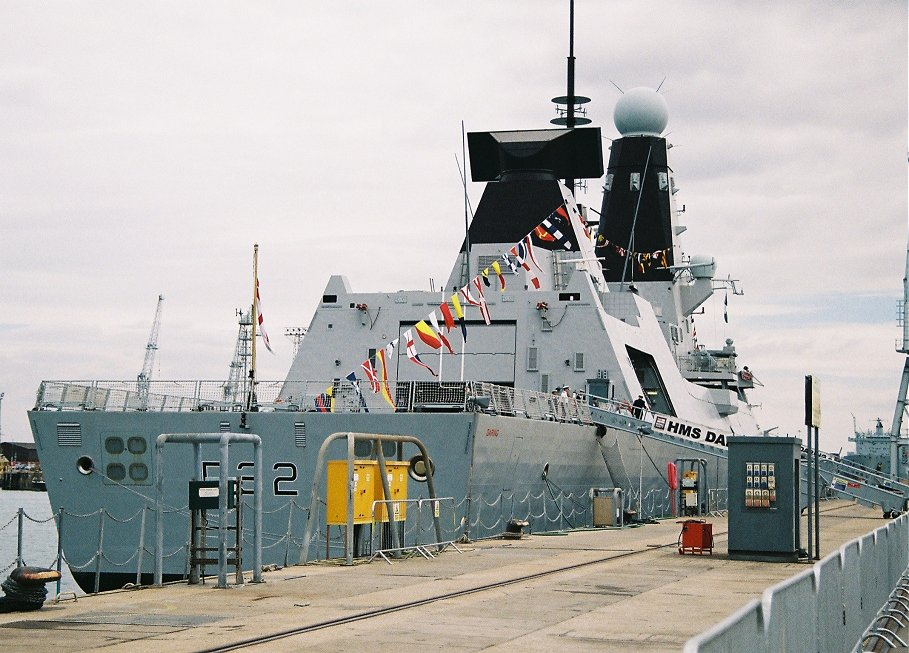 Type 45 destroyer H.M.S. Daring at Portsmouth Navy Days 2010