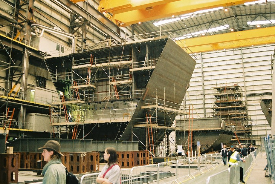 Second Type 45 destroyer, HMS Dauntless, under construction at BAE Systems, Portsmouth Navy Days 2005