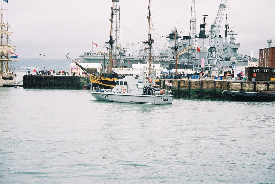 Explorer class coastal training patrol craft H.M.S. Example at Portsmouth Navy Days 2005