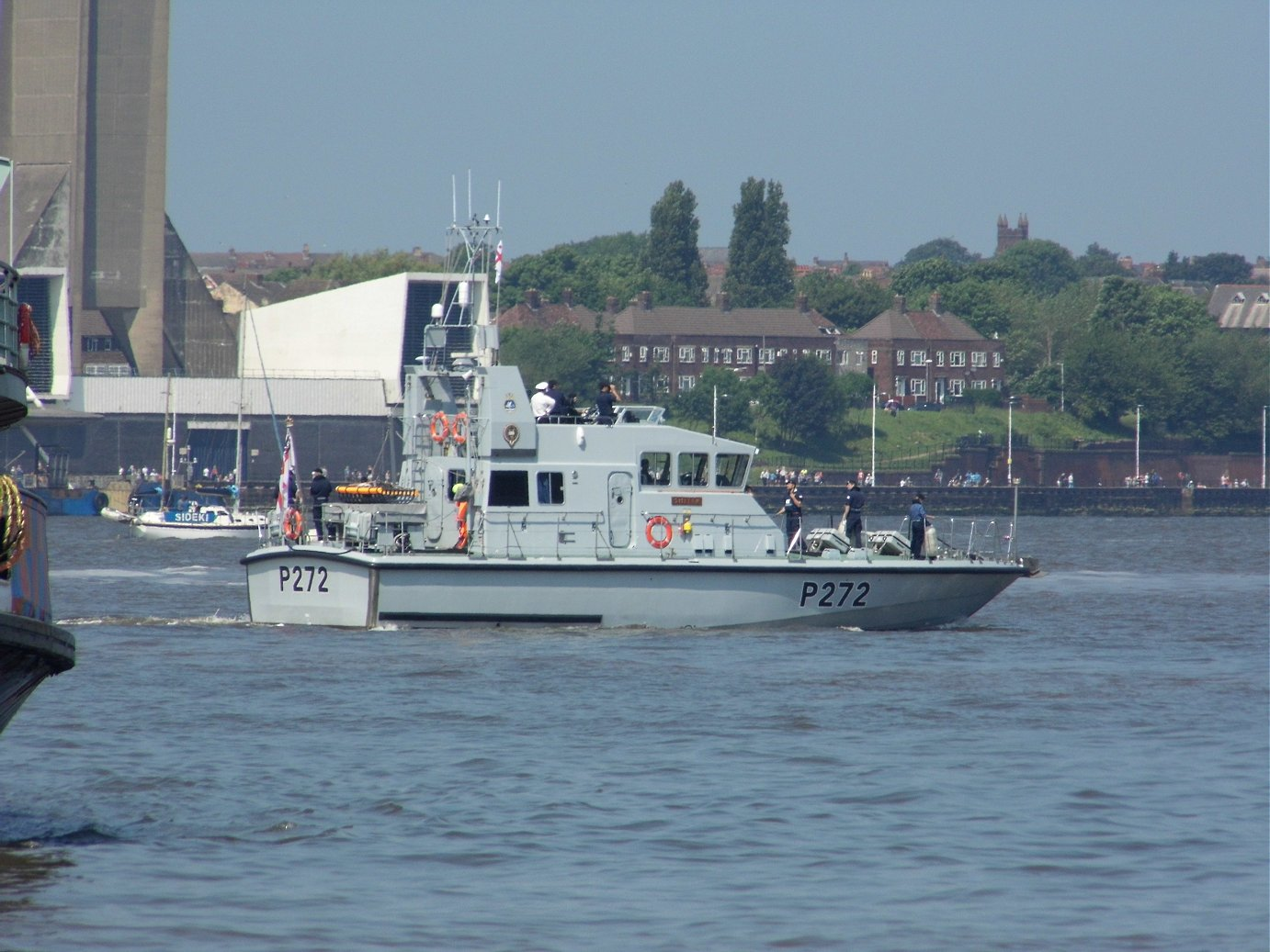 Explorer class coastal training patrol craft H.M.S. Smiter at Liverpool, May 28th 2018