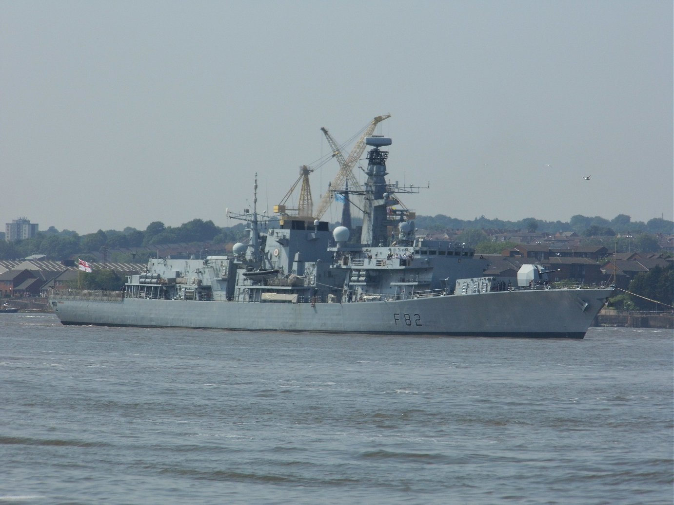Type 23 frigate H.M.S. Somerset at Liverpool, May 28th 2018
