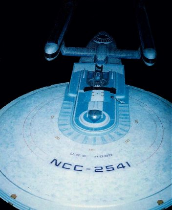 U.S.S. Hood as she appeared in TNG 'Encounter at Farpoint'. Note her registry number as filmed was NCC 2541, not 42296. Image copyright ILM. All Rights Reserved.