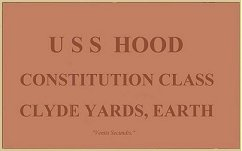 Original plaque of U.S.S. Hood. Click on image for larger view.