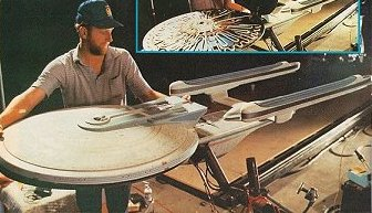 U.S.S. Hood model being prepared for 'Encounter at Farpoint'. Her registry number is now known to have been NCC 2541.