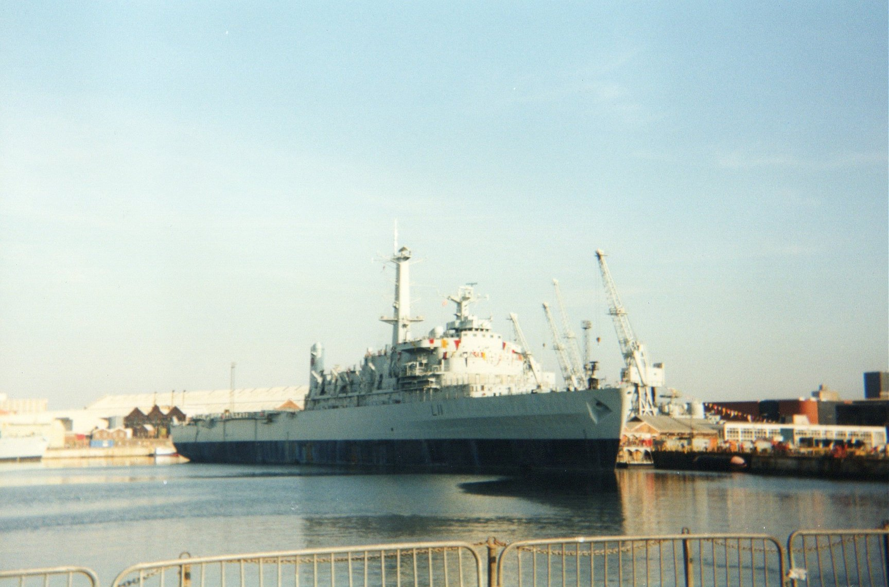 Assault vessel H.M.S. Intrepid at Portsmouth Navy Days 1998