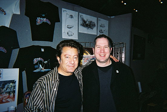 Ady and Jeff Wayne - WOTW double album composer - at GMEX Manchester Feb 11th 2006.
