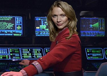 Lieutenant Commander Judith Peers of U.S.S. Sheffield.