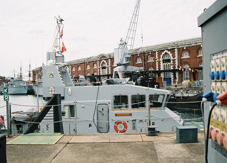 Archer class Coastal Training Patrol craft P291 HMS Puncher, Portsmouth Navydays, 2010.