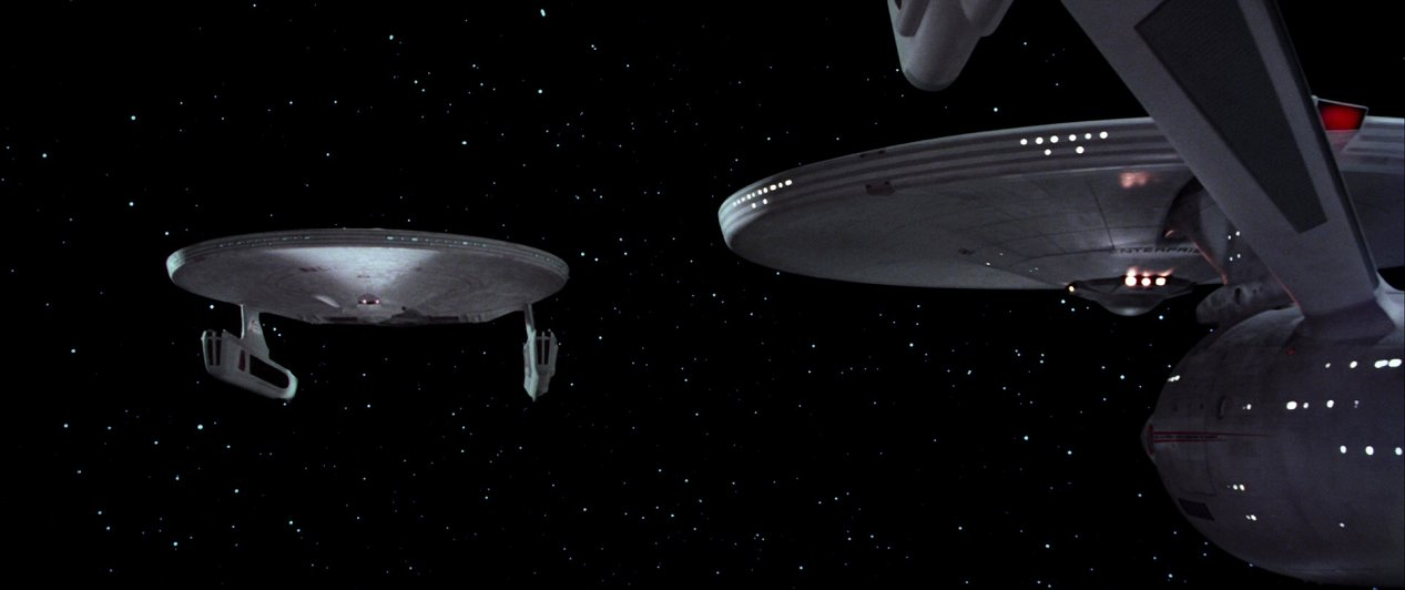 U.S.S. Courageous rendez vous with a Constitution class starship. Stardate classified.