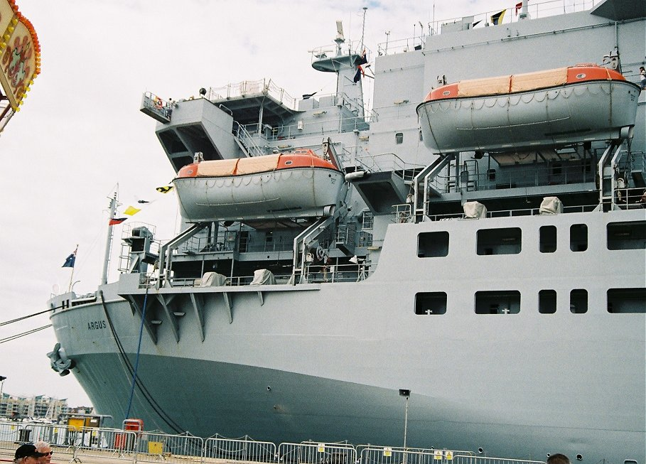 RFA Argus, primary casualty reception ship, Portsmouth 2010.