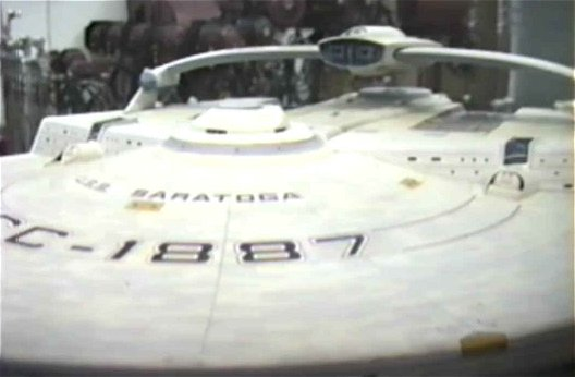 U.S.S. Saratoga NCC 1887 from ST: IV the voyage home. Image Copyright © Gary Hutzel from the Drex Files.