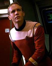 Starfleet jumpsuit uniform as worn by a Senior Chief Petty Officer department head.