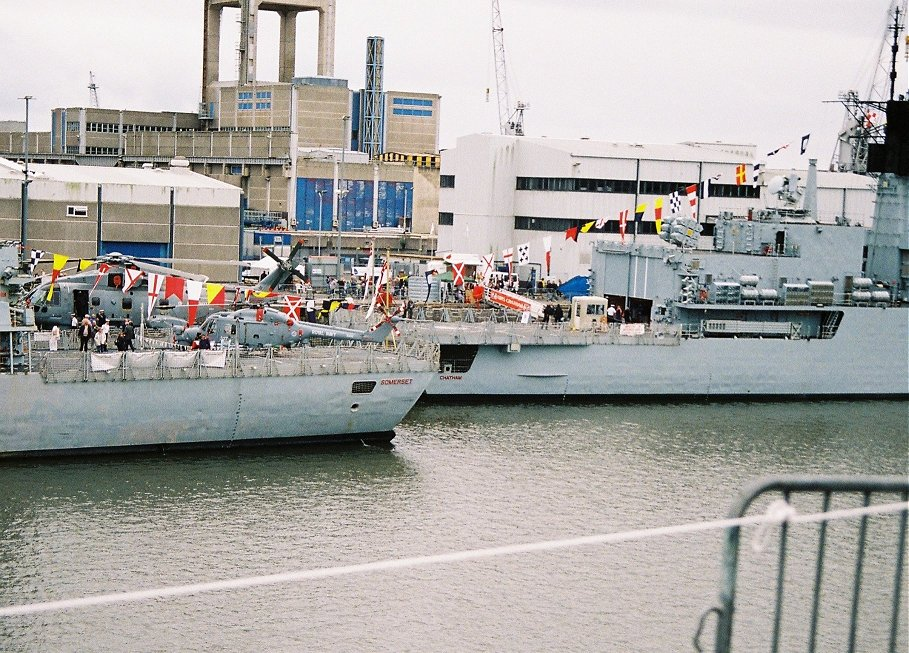 Type 23 HMS Somerset and Type 22 HMS Chatham at Plymouth Navy Days, Saturday September 5th 2009