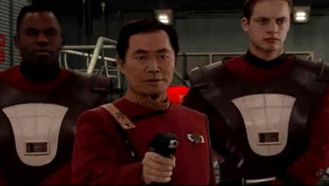 Captain Sulu and security at the Academy during the Vanguard bombing plot of 2290.