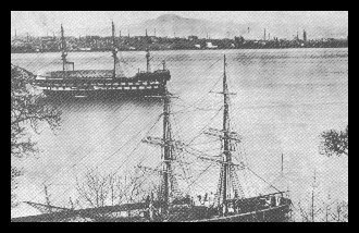 Truant Training Ship 'Mars' on the Tay off Dundee. 1869 - 1929.