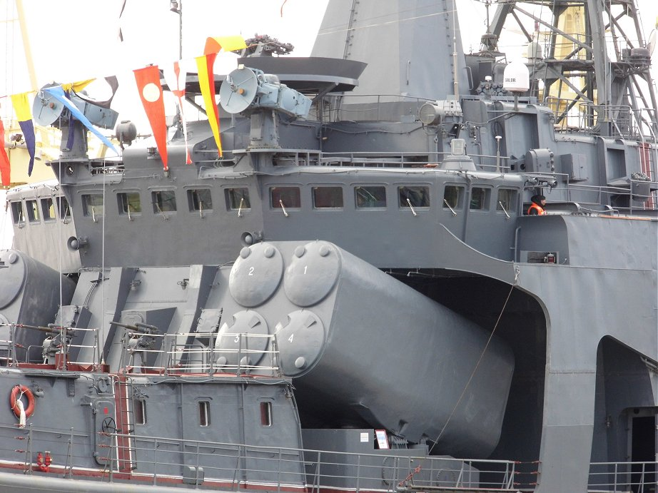 Udaloy I class destroyer Vice Admiral Kulakov -  8 (2 x 4) SS-N-14 Silex anti submarine missiles.